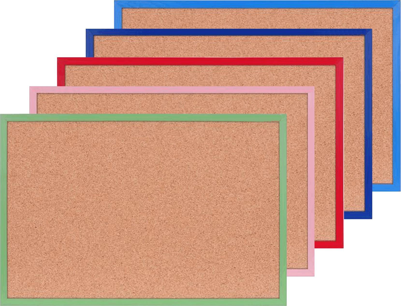 pinnwand korkboard in ihrer farbe 40 x 60 cm pinwand korkwand pinntafel memo ebay. Black Bedroom Furniture Sets. Home Design Ideas